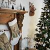 Weihnachtsstrumpf Winterlandschaft