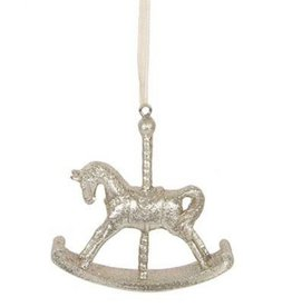 Gold Rocking Horse Hanging Decoration