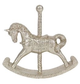 Small Gold Rocking Horse Ornament