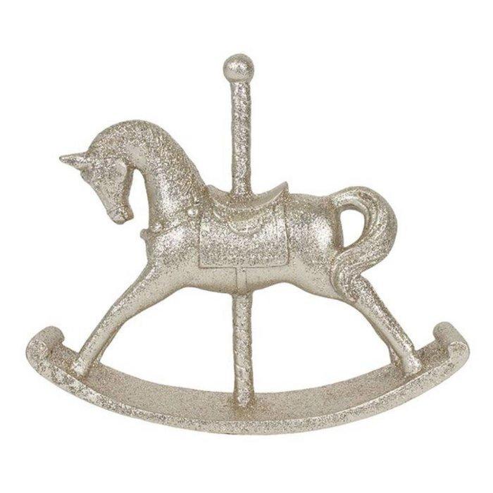 Large Golden Rocking Horse Ornament