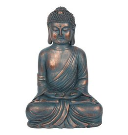 Blue Copper-Coloured Sitting Buddha