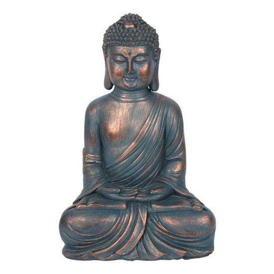 Blue Copper-Coloured Sitting Buddha