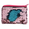 Blue & Pink Reversible Sequin Coin Purse