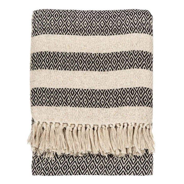 Baumwolldecke Überwurf mit rautenförmigen Mustern