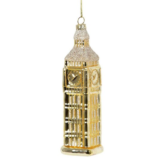 Gold Glittering Big Ben Christmas Decoration