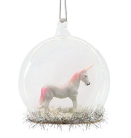 Unicorn Glass Dome Bauble