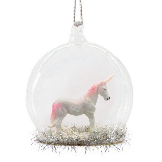 Unicorn Glass Dome Bauble