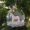 Weihnachtskugel Einhorn