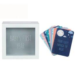 Baby Meilensteinkarten mit Aufbewahrungsbox