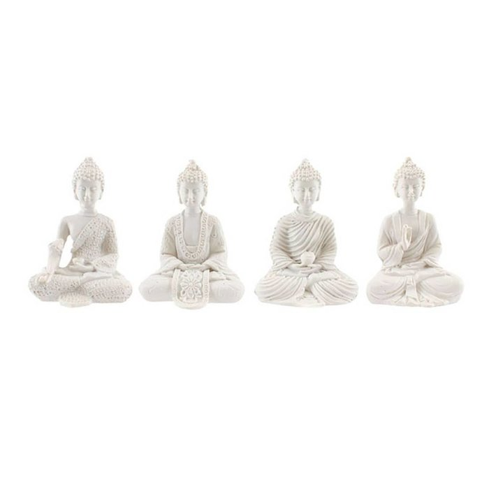 Mini Buddhas in weiß, 4er Set