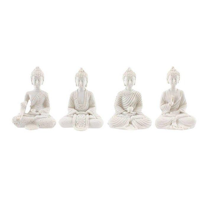 White Mini Buddhas, Set of 4