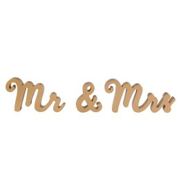 'Mr & Mrs' Gold Standing Letters