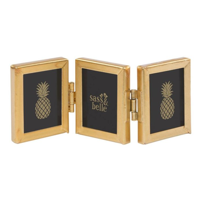 Mini Gold Triple Picture Frame