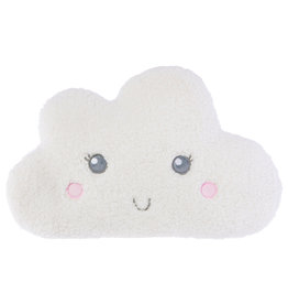 White Smiling Teddy Cloud Cushion