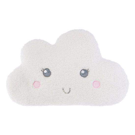 White Smiling Teddy Cloud Cushion
