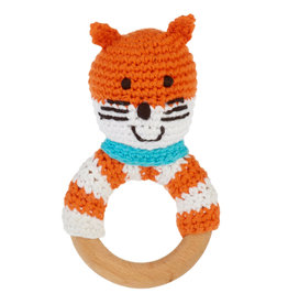 Wooden Ring Rattle Fox