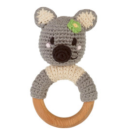 Wooden Ring Rattle Koala