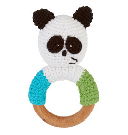 Wooden Ring Rattle Panda