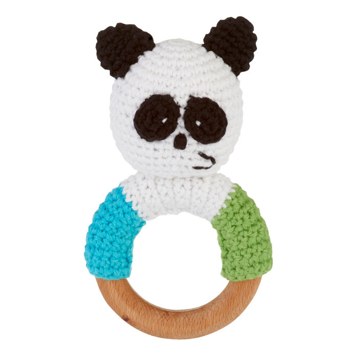 Wooden Ring Rattle Panda
