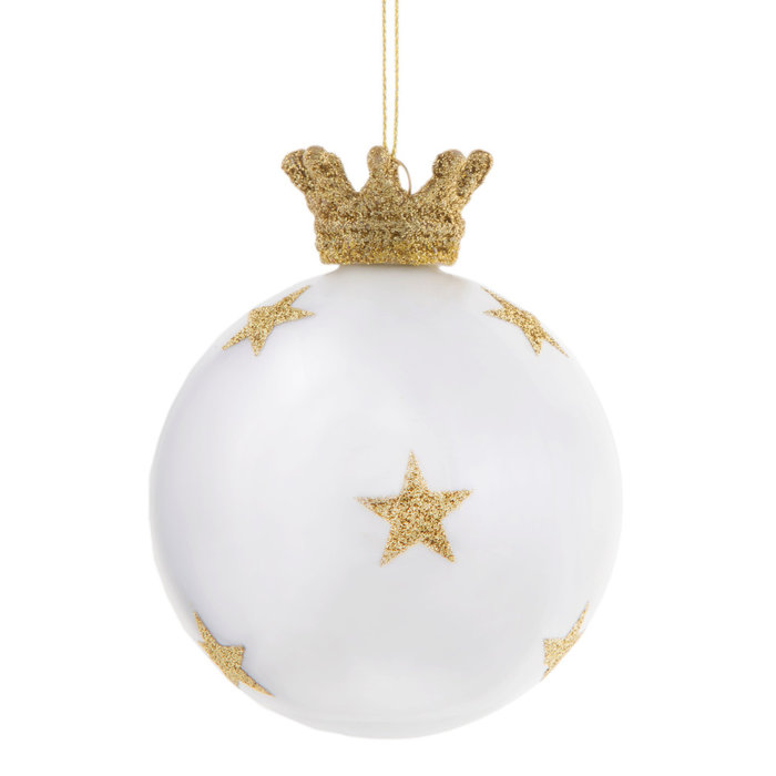 Gold Star Crown Bauble