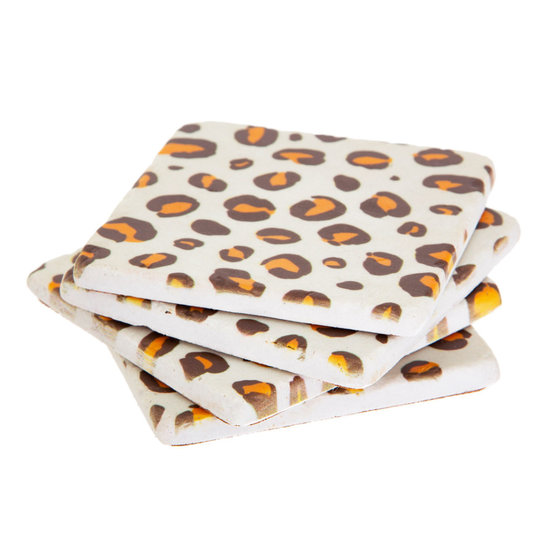 Leopard Print Coasters, Set of 4