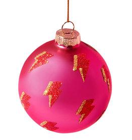 Pinke Weihnachtskugel Blitz
