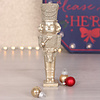 Golden Nutcracker Ornament