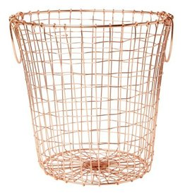 Round Copper Wire Basket