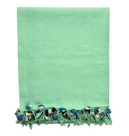 Mint Pom Pom Throw
