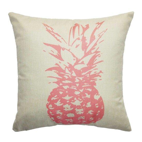 Kissenhülle mit Ananas-Motiv