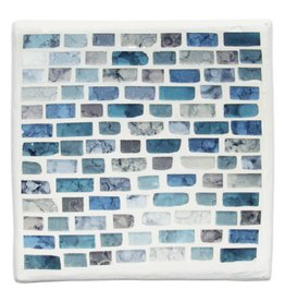 Blue Mosaic Plate