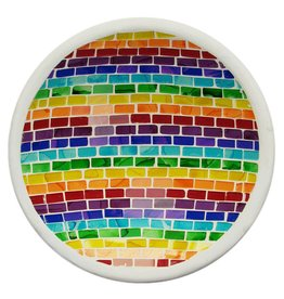 Rainbow-Coloured Mosaic Bowl