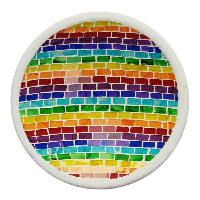 Mosaik Schale in Regenbogenfarben