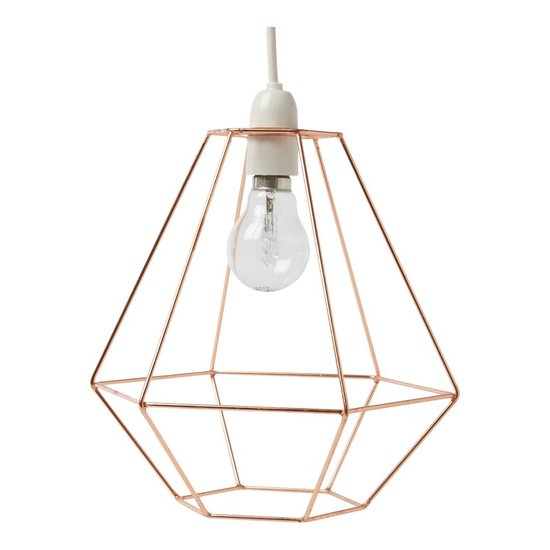 Diamond-Shaped Copper Lampshade