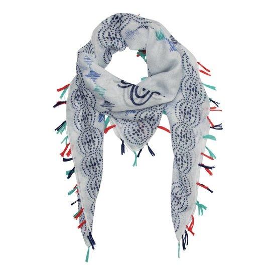 Ornamente Halstuch mit bunten Quasten