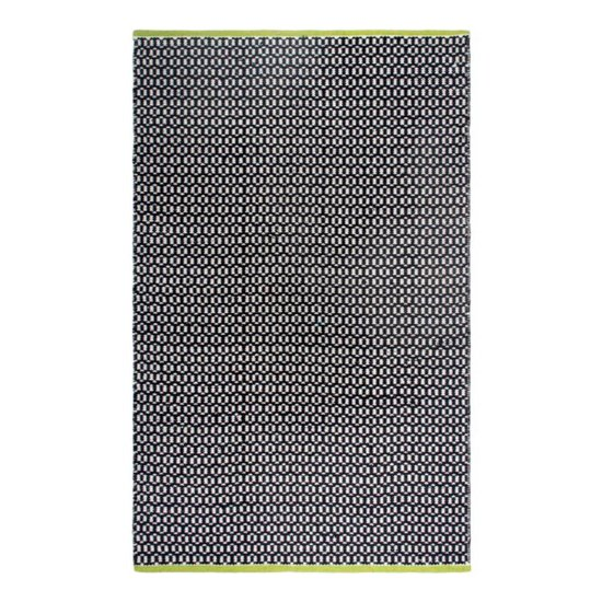 Recycled Black & White Pattern Rug Vernon