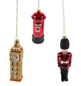 London Christmas Ornaments, Set of 3