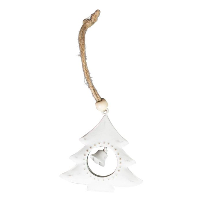 Snowy Tree Hanging Decoration with Bell
