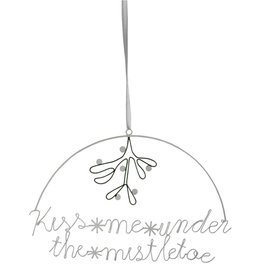 Christmas Hanging Decoration 'Kiss Me Under The Mistletoe'