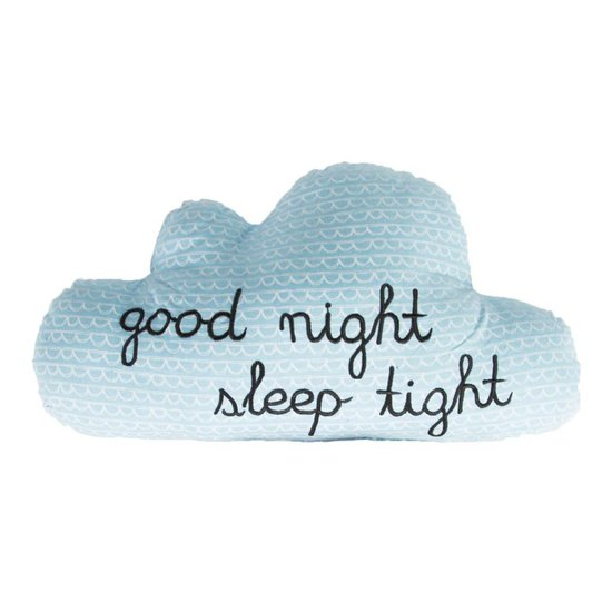 'Good Night Sleep Tight' Cloud Cushion