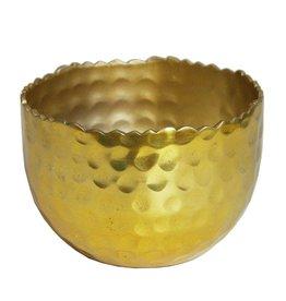 Gehämmerter Teelichthalter in gold