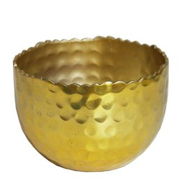 Hammered Gold Brass Tealight Holder
