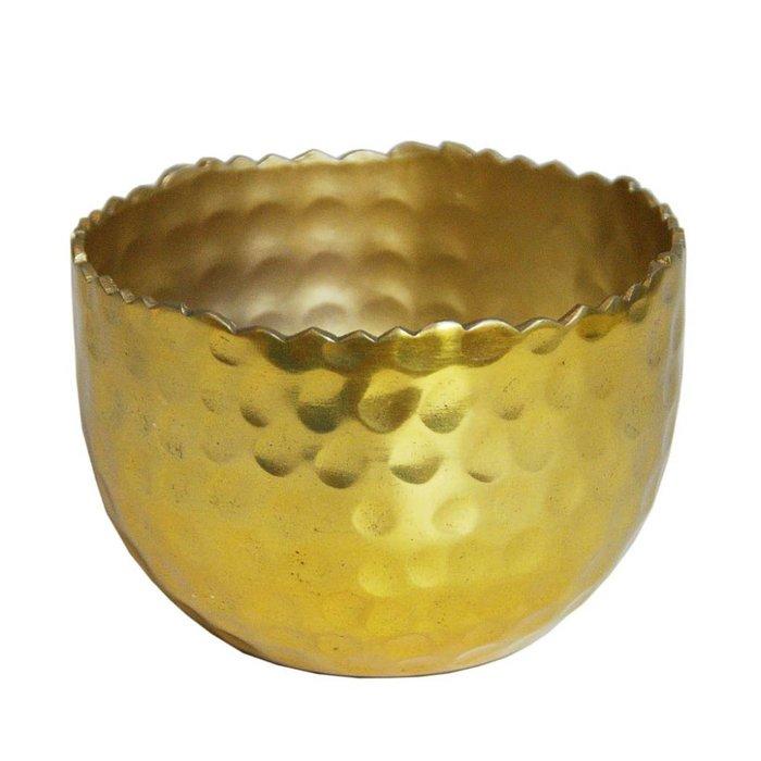 Hammered Gold Brass Tealight Holder