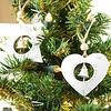 Weihnachtliche Herz Hängedekoration mit Glöckchen