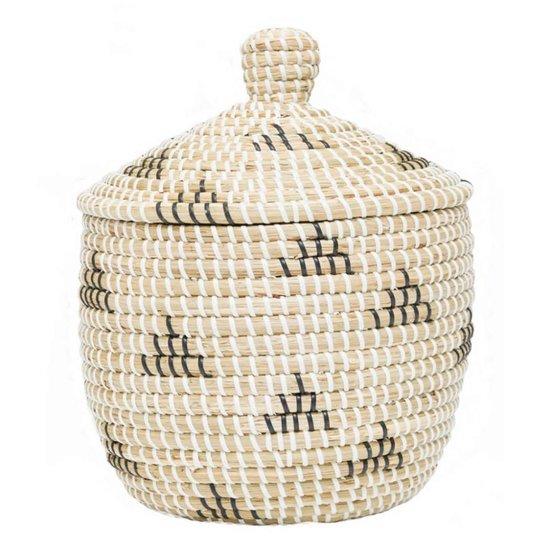 Seegras Aufbewahrungskorb Tipi mit Deckel