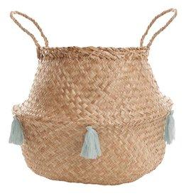 Seegras Aufbewahrungskorb mit Tasseln