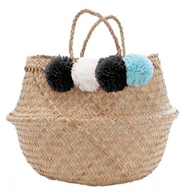 Belly Basket with Pom Poms