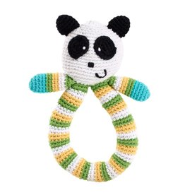 Panda Rattle with Looped Handle
