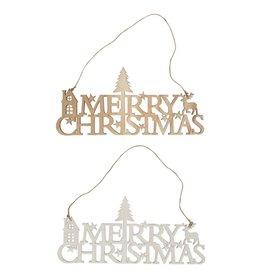 'Merry Christmas' Schriftzug mit Weihnachtsmotiv