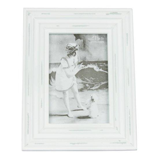 Shabby Chic Bilderrahmen in weiß, 10x15cm